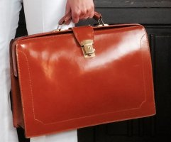Briefcase cognac-coloured-light brown leather