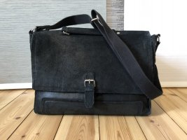 Kiomi Laptop bag black leather
