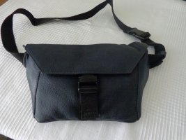 Zign Bumbag black-dark blue leather