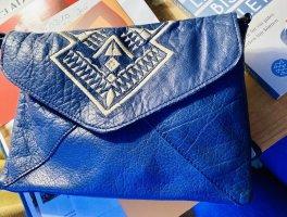 Ledertasche klein blau Leder Ethno Pieces