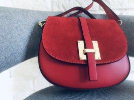 Ledertasche Umhängetasche Leder Tasche dunkle rot neu NP 169€