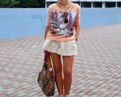 Lee Cooper Crop Top Shirt Sweater Sweatshirt Hoodie Cat Kitty Animal Print UO Oversize Boyfriend