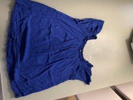 Lee T-shirt niebieski Tkanina z mieszanych włókien