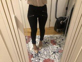 Legging Stretch mit Fake Zippverschlüssen