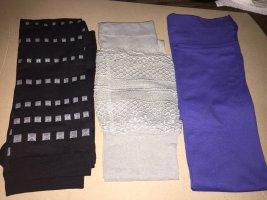 Leggings im 3er Set, verschiedene Farben, Gr. S/M