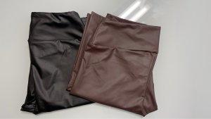 Calzedonia Leggings nero-marrone scuro Tessuto misto