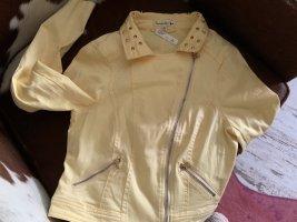 Leicht Jeansjacke in Pastell gelb, Gr. S