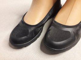 Leichte Ballerina Schuhe Sneaker Turnschuhe Größe 41 42 breite Füße Weite schwarz Satin