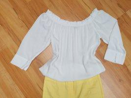 Street One Bluzka typu carmen biały Bawełna