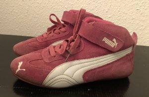 Zapatillas altas rojo frambuesa-blanco