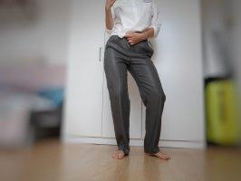 Massimo Dutti Jersey Pants dark grey-anthracite