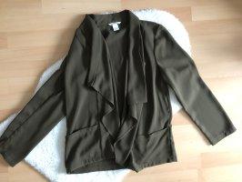 Leichte khakifarbene Blazerjacke von H&M