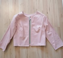 new collection Faux Leather Jacket dusky pink-pink