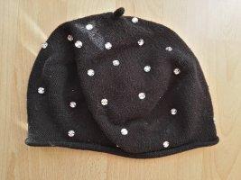 H&M Crochet Cap white-black