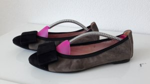 Pretty ballerinas Foldable Ballet Flats brown leather