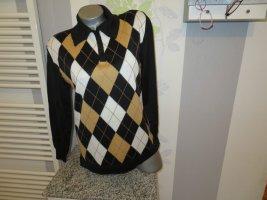 Donna Lane Fine Knit Jumper black-white