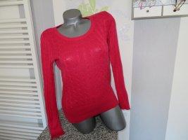 Jersey trenzado rojo claro-rojo