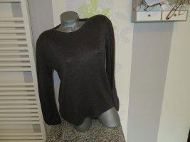 Classic by michele boyard Crewneck Sweater grey brown viscose