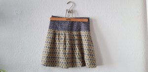 Camaieu Miniskirt yellow-blue