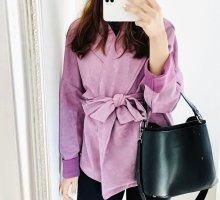 SheIn Manteau oversized violet-lilas