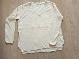 Oversized Sweater natural white mixture fibre