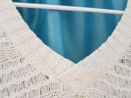 Jersey de ganchillo gris claro-blanco Acrílico