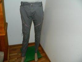 Culture Chinos grey cotton