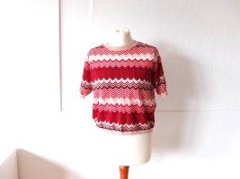 leichtes Mango Strick Gr. L 40 Zick Zack Muster Pullover Shirt