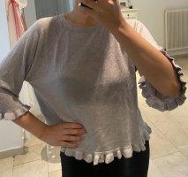 Blusa sin espalda gris claro