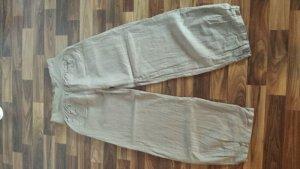 Pantalone di lino beige chiaro-beige