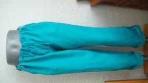 Atmosphere Pantalon en lin turquoise-bleu clair lin
