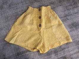 terra nova Pantalón corto de talle alto amarillo-amarillo claro