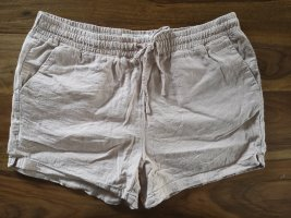 Leinen Shorts in Altrosa