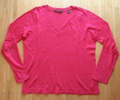 Leinen Sommer Pullover von Esprit, pink, Damen Gr. S