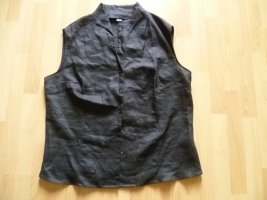 Adagio Sleeveless Blouse black linen