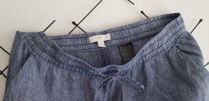 H&M L.O.G.G. Pantalone di lino azzurro