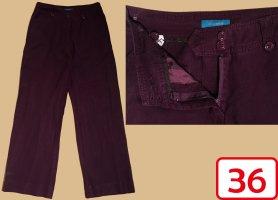 Coolwater Pantalone di lino rosso mora