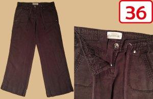 Clockhouse Pantalone di lino marrone