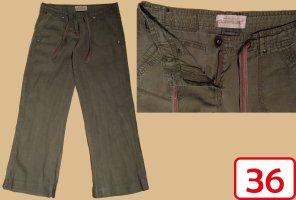 Clockhouse Pantalone di lino cachi-grigio-verde