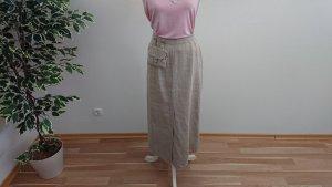 C&A Falda de lino marrón arena Lino