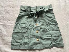 Topshop Falda de lino azul pálido-verde grisáceo