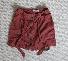 Mango Linen Skirt multicolored linen