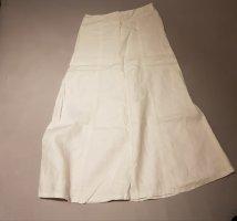 H&M Falda de lino blanco