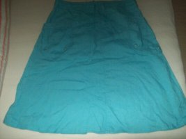H&M Falda de lino azul neón Lino