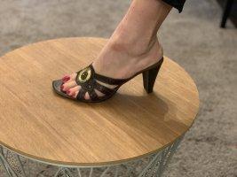 Lemon Dry Sandaletten Absatz Italienische Schuhe Leder Gr.39