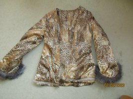 Fur vest gold-colored-beige