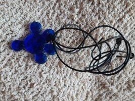 Médaillon bleu verre
