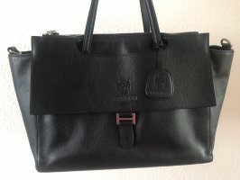 Leonhard Heyden Laptop bag black leather