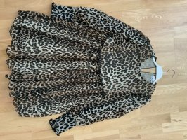 Ganni Flounce Dress brown-black