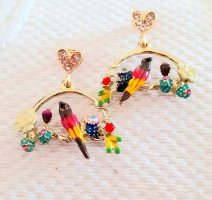 Les Néréides Clou d'oreille multicolore